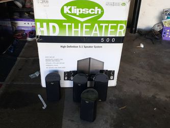 Klipsch HD Theater 500 5.1 System With Subwoofer,center Speaker, Surrond Speakers for Sale in Las Vegas,  NV