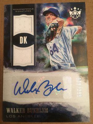 Walker Buehler - Rookie Auto Jersey Dual Relic Card #009/299! - 2018 Diamond Kings LA Dodgers for Sale in Rockville, MD