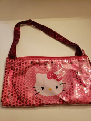 "Pink Hello Kitty with big heart. Purse Approx 4 1/2"" x 8 1/2"" for Sale in Plainville, CT"