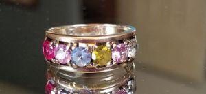 Stunning Vintage Estate 14K yellow gold multi gemstone ring size 7 for Sale in Lake Stevens, WA