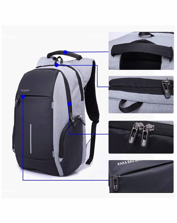 Oxford Laptop Backpack Business Anti Theft Slim Rucksack Water Resistant Durable Large Capacity Daypack with Reflective Strip