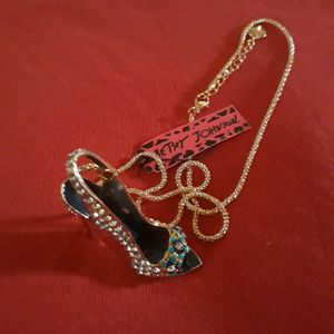 Women's Fashion Necklace Bling Stilettos by Betsey Johnson for Sale in Oklahoma City, OK
