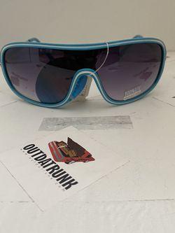 Unisex Aqua Blue Shield Sunglasses for Sale in NJ,  US