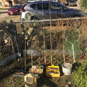 Vintage Fishing Rods And Tackle for Sale in San Antonio, TX