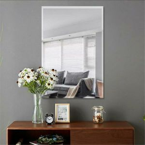 Rectangle Simple/Large Beveled Glass Wall Mounted/Hanging Vanity Mirror In Bathroom for Sale in Alexandria, VA