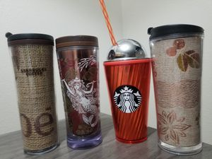 4 Starbucks Tumblers/ Cups for Sale in Tempe, AZ