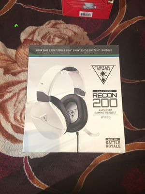 Turtle Beach Recon 200 Wired Stereo Gaming Headset - White for Sale in Los Angeles, CA