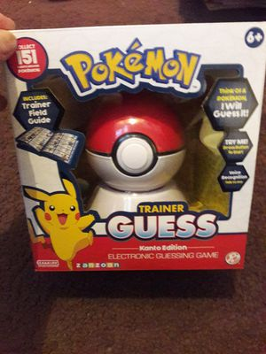 Kids Pokemon Trainer Guess Game Toy for Sale in Washington, PA