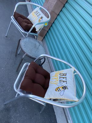 3 piece outdoor patio set furniture with new cushions & pillows 🔥🔥🔥 FREE DELIVERY WITHIN 5 MILES 👍 for Sale in Las Vegas, NV