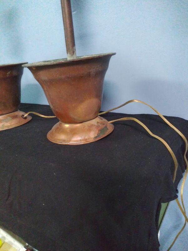 Copper Flowerpot Electric Lamps
