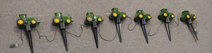 Vintage Rare John Deere Outdoor Pathway Tractor Lights Set Of 7. Firm Price for Sale in Burlington, NC