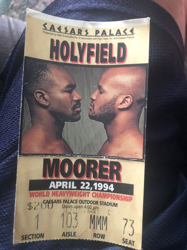 Tyson vs Holyfield and Holyfield vs Moorer ticket stubs