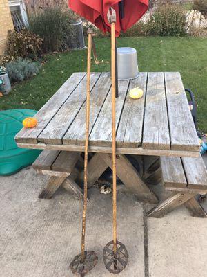 Antique ski poles for Sale in La Grange Park, IL