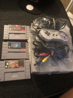 Super Nintendo with 3 games(no low balls) for Sale in Westland, MI
