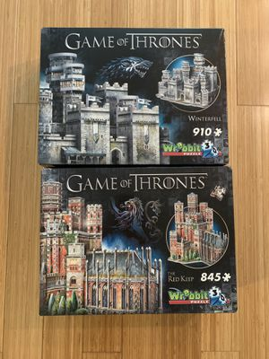 NEVER USED — Game of Thrones 3D Puzzles for Sale in Seattle, WA