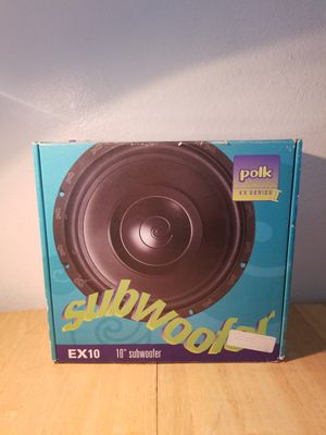 "Polk Audio Subwoofer Sub 10 inch 10"" new for Sale in Escondido, CA"