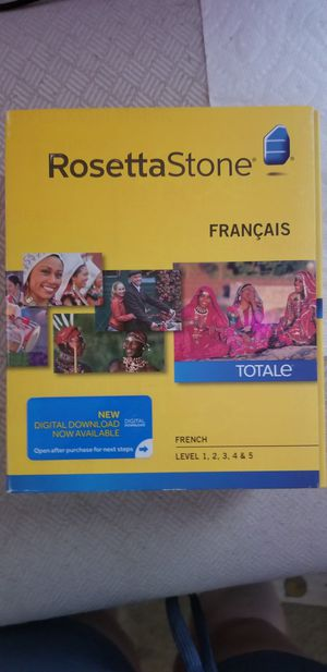 Rosetta Stone French Level 1-5 unopened box for Sale in Raleigh, NC