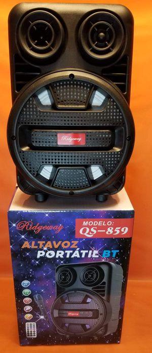 8 Inch New Bluetooth Speaker SD Card,Slot USB Port,FM Radio,Microphone Included For Karaoke ( Bosina ) Bz3 for Sale in Moreno Valley, CA
