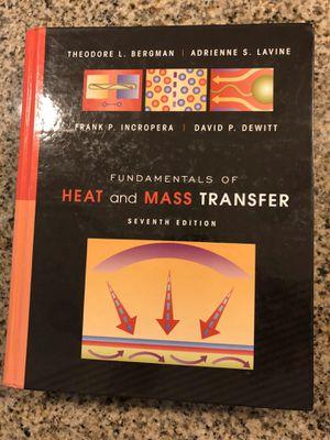Fundamentals of Heat and Mass Transfer, Seventh Edition (Bergman, Lavine, Incropera, Dewitt) for Sale in Scottsdale, AZ