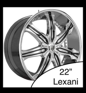 3x Lexani LX-7 Chrome w/ Black Insert Rims for Sale in Burien, WA