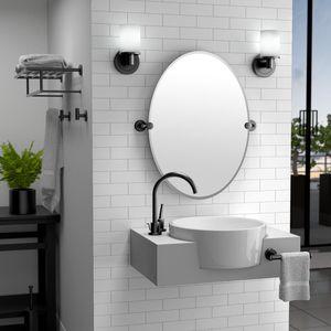 Gatco Latitude II 29 in. x 32 in. Frameless Single Large Oval Mirror in Chrome for Sale in Dallas, TX