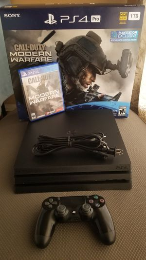 Playstation 4 Pro w/ Controller & 1 Game: Call of Duty Modern Warfare (PS4) for Sale in Houston, TX