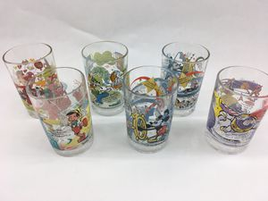 "Lot of 6 Disney World Glasses w/Five ""100 Years of Disney"" Commemorative Glasses for Sale in Trenton, NJ"