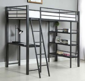 TWIN WORKSTATION LOFT BED INCLUDING MATTRESS🛏 ON SALE😱 for Sale in Bakersfield, CA