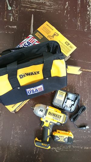 "DEWALT 20v 1/2"" HIGH TORQUE IMPACT. WRENCH NEW for Sale in Silver Spring, MD"