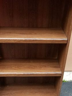 Mid-century Modern Bookcase Bookshelf $10 For The Brown And $20 For The Toll White for Sale in Everett,  WA