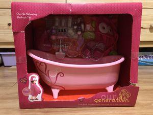 Our Generation Doll Bathtub Set - Box damaged item New for Sale in Plantation, FL