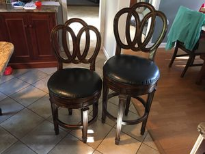 Swivel chairs - Set of 6 (4 smaller, 2 bigger) for Sale in Howell Township, NJ