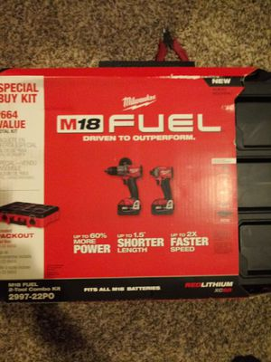 m 18 fuel Milwaukee Hammer combo kit for Sale in Levittown, PA