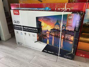 "55"" TCL QLed Quantum Roku tv smart 4K UHD for Sale in Ontario, CA"
