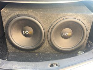 Power bass amp and subs (15's) for Sale in Sun City, AZ