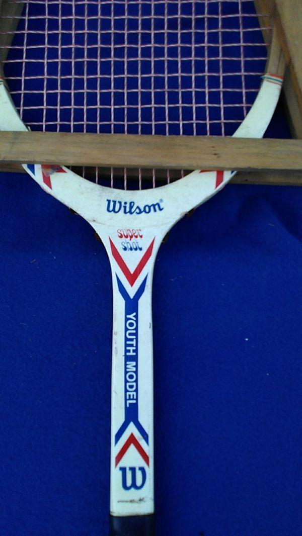 Vintage Wilson wood tennis Racket super shot youth model