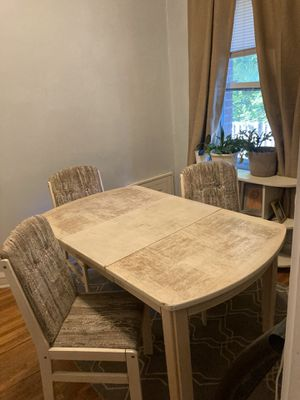 Kitchen table with 4 chairs + leaf for Sale in Minneapolis, MN