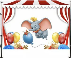 Carnival Circus Dumbo Elephan Balloons Backdrops for Sale in Hollywood, FL