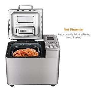 EP23592 Costway 2 LB Automatic Bread Maker Stainless Steel Programmable Bread Machine Silver for Sale in Santa Ana, CA