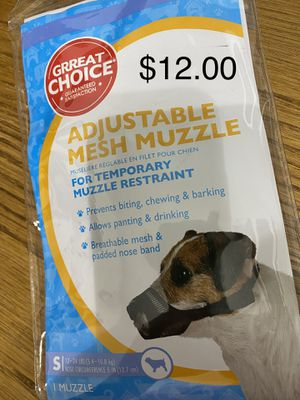 Size S temporary muzzle for small dogs for Sale in Stuarts Draft, VA