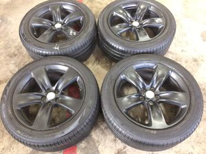 "20"" Jeep SRT8 Satin BLACK Rims Pirelli Scorpion Verde Tires A/S 295/45/20 for Sale in Center Line, MI"