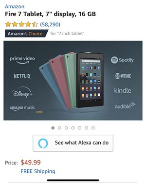 Alexa with 7' Fire tablet for Sale in Murfreesboro, TN