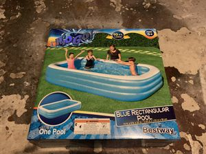 H2OGo! Blue Rectangular Inflatable Family Pool for Sale in Stamford, CT