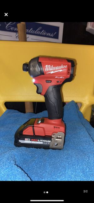 Milwaukee m18 fuel surge 1/4 impact drill with battery kit for Sale in Thornton, CO