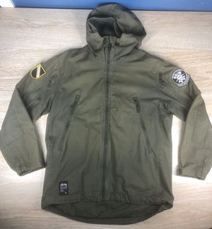 Stussy X Buffalo Bobs International Parka Buffalo Soldier Army jacket Green Mens Large for Sale in Oakland, CA