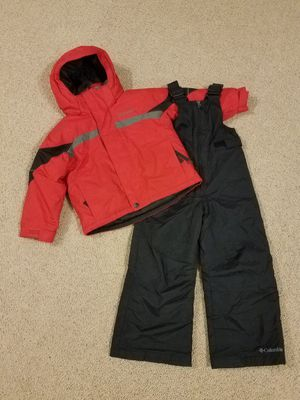 Columbia snow clothes size 4 - 5 kid snow bib winter snow coat jacket for Sale in Gilbert, AZ