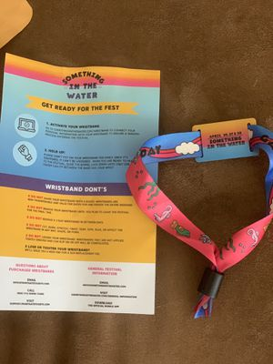 Something In The Water Festival Wristband for Sale in Mount Rainier, MD