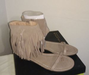 Taupe Fringe Sandles! for Sale in Kansas City, MO