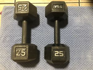 25 Pound Dumbbell Set Non-Matching for Sale in Sarasota, FL