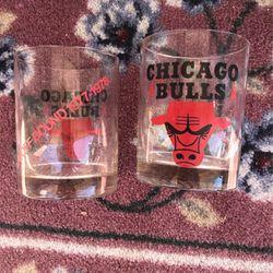 Chicago Bulls 1977-1978 Playoff Glasses -2 for Sale in Punta Gorda,  FL